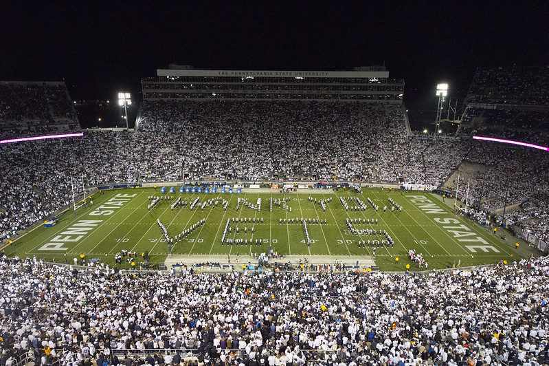 Blue Band formation - Thank You Vets - take at a Military Appreciation football game